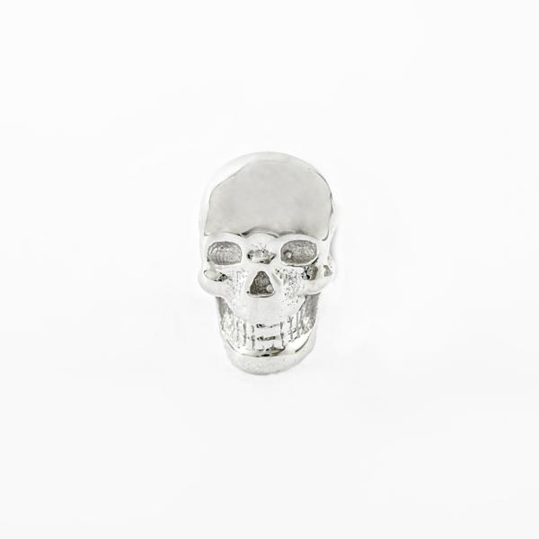 Piercing oreille or blanc BVLA - Skull