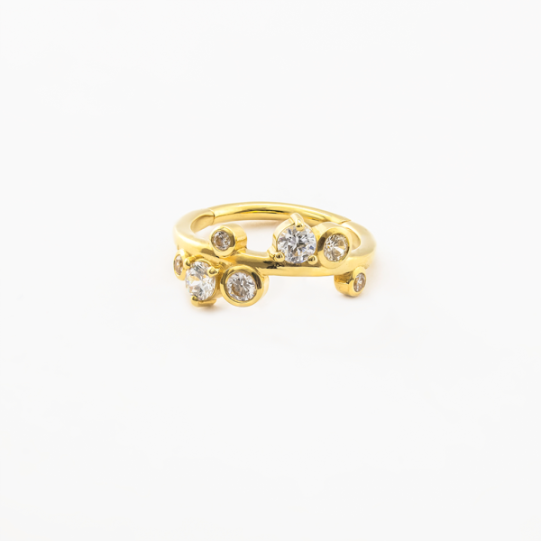 Piercing oreilles clicker en or - Ball Ring Clicker